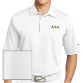 Nike Sphere Dry White Diamond Polo-Greek Letters Outlined