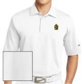 Nike Sphere Dry White Diamond Polo-Crest