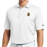 Nike Golf Tech Dri Fit White Polo-Crest