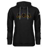 Adidas Climawarm Black Team Issue Hoodie-Tackle Twill Greek Letters
