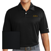 Nike Dri Fit Black Pebble Texture Sport Shirt-Greek Letters