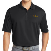 Nike Golf Dri Fit Black Micro Pique Polo-Greek Letters