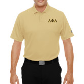 Under Armour Vegas Gold Performance Polo-Greek Letters Outlined