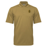 Vegas Gold Mini Stripe Polo-Crest