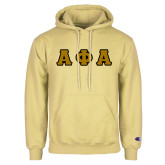Champion Vegas Gold Fleece Hoodie-Tackle Twill Greek Letters