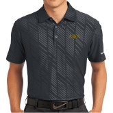 Nike Dri Fit Black Embossed Polo-Greek Letters
