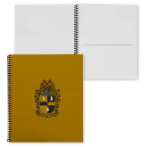College Spiral Notebook w/Black Coil-Crest