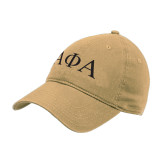Vegas Gold Twill Unstructured Low Profile Hat-Greek Letters