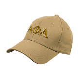 Vegas Gold Heavyweight Twill Pro Style Hat-Greek Letters Outlined