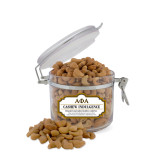 Cashew Indulgence Small Round Canister-Greek Letters Outlined