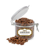 Almond Bliss Small Round Canister-Greek Letters Outlined
