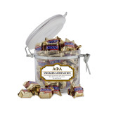 Snickers Satisfaction Small Round Canister-Greek Letters Outlined