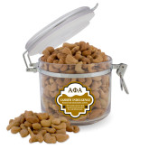 Cashew Indulgence Round Canister-Greek Letters Outlined