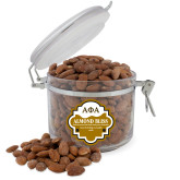 Almond Bliss Round Canister-Greek Letters Outlined