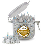 Kissable Creations Round Canister-Greek Letters Outlined