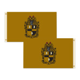 3 ft x 5 ft Flag, Double Sided Gold/Gold Flag-