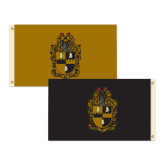 3 ft x 5 ft Flag, Double Sided Gold/Black Flag-