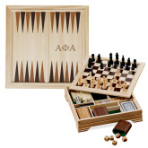 Lifestyle 7 in 1 Desktop Game Set-Greek Letters Engraved