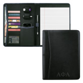 Pedova Black Writing Pad-Greek Letters Engraved