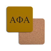 Hardboard Coaster w/Cork Backing-Greek Letters