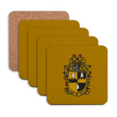 Hardboard Coaster w/Cork Backing 4/set-Crest