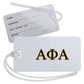 Luggage Tag-Greek Letters Outlined