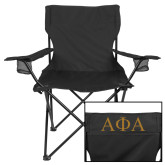 Deluxe Black Captains Chair-Greek Letters