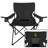 Deluxe Black Captains Chair-Crest