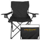 Deluxe Black Captains Chair-Alpha Phi Alpha Mission Focused Stacked