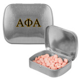 Silver Rectangular Peppermint Tin-Greek Letters Outlined