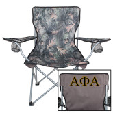 Hunt Valley Camo Captains Chair-Greek Letters Outlined