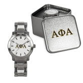 Mens Stainless Steel Fashion Watch-Greek Letters Outlined