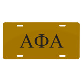 License Plate-Greek Letters