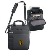 Kenneth Cole Black Vertical Checkpoint Friendly Messenger-Crest