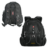 Wenger Swiss Army Mega Black Compu Backpack-Greek Letters