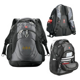 Wenger Swiss Army Tech Charcoal Compu Backpack-Greek Letters