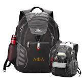 High Sierra Big Wig Black Compu Backpack-Greek Letters