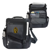 Momentum Black Computer Messenger Bag-Crest
