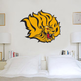 3 ft x 3 ft Fan WallSkinz-Golden Lion Head
