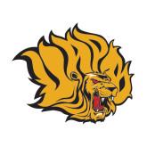 Medium Decal-Golden Lion Head, 8 in Tall