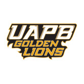 Medium Decal-UAPB Golden Lions Stacked, 8 in Wide
