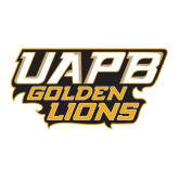 Large Decal-UAPB Golden Lions Stacked, 12 in Wide