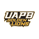 Small Decal-UAPB Golden Lions Stacked, 6 in Wide