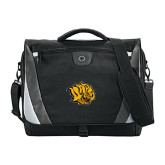 Slope Black/Grey Compu Messenger Bag-Golden Lion Head