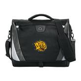 Slope Black/Grey Compu Messenger Bag-Golden Lion Head