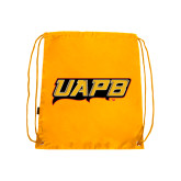 Gold Drawstring Backpack-UAPB Word Mark