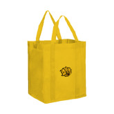 Non Woven Gold Grocery Tote-Golden Lion Head