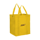 Non Woven Gold Grocery Tote-UAPB Word Mark