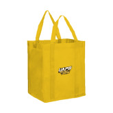 Non Woven Gold Grocery Tote-UAPB Golden Lions Stacked