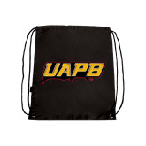 Black Drawstring Backpack-UAPB Word Mark
